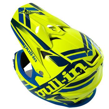 BMX/DH Helmet Peak Peak Neon Yellow/Blue