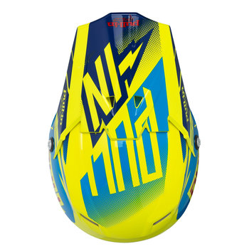 Helmet Peak Adult Neon Yellow/ Cyan