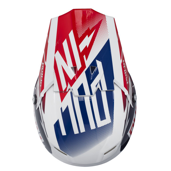 helmet peak adult navy/white/red