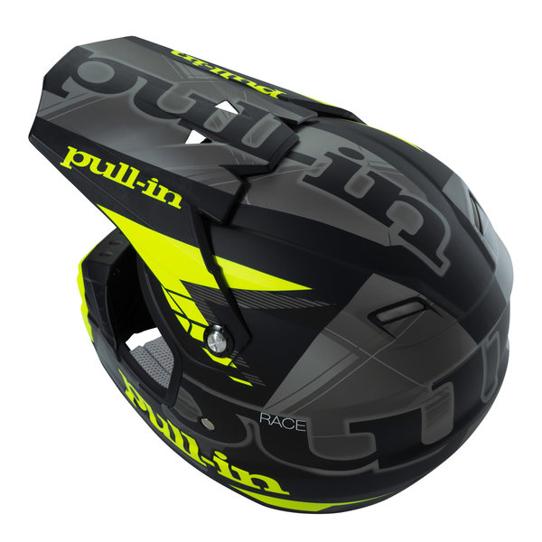 helmet peak adult 2016 matt black/grey/neon yellow