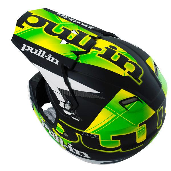 helmet peak adult 2016 matt black/neon green