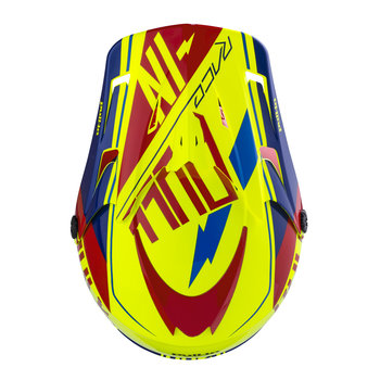 Helmet Visor Peak 18 Red/Blue/Yellow