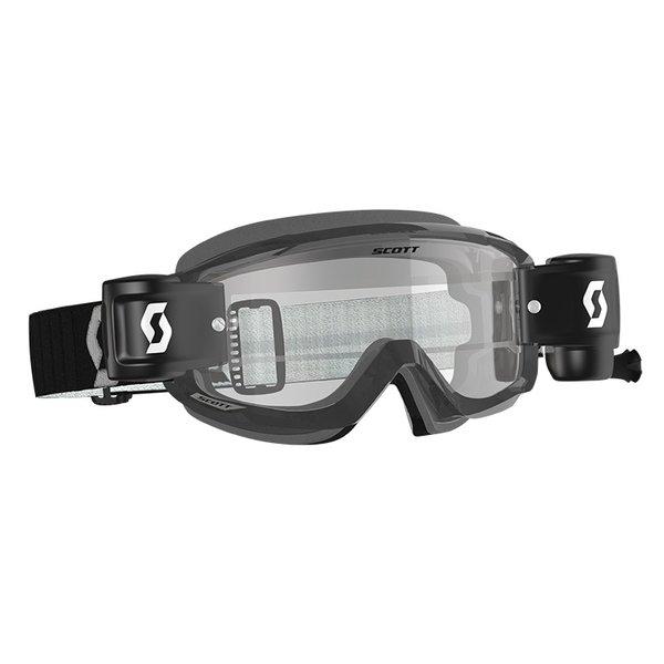 Goggle Split Otg WFS Black/Grey Clear Works (Speciaal Voor Brildragers)
