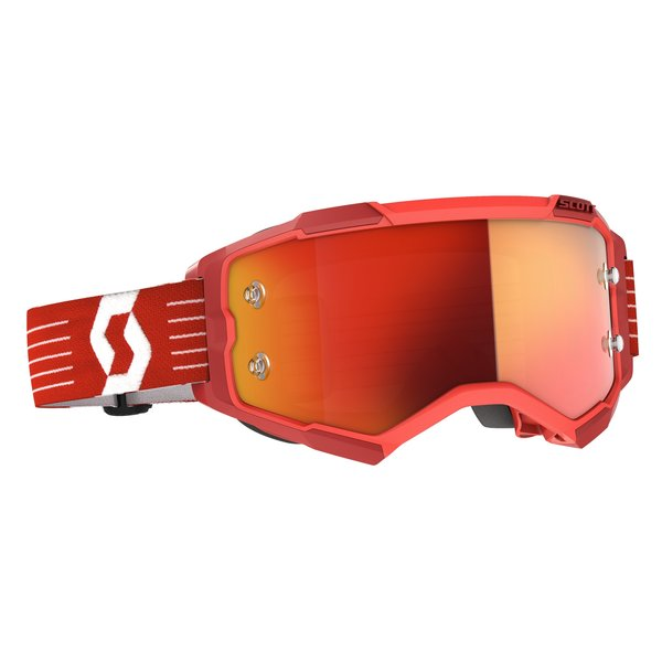Goggle Fury Bright Red Orange Chrome Works