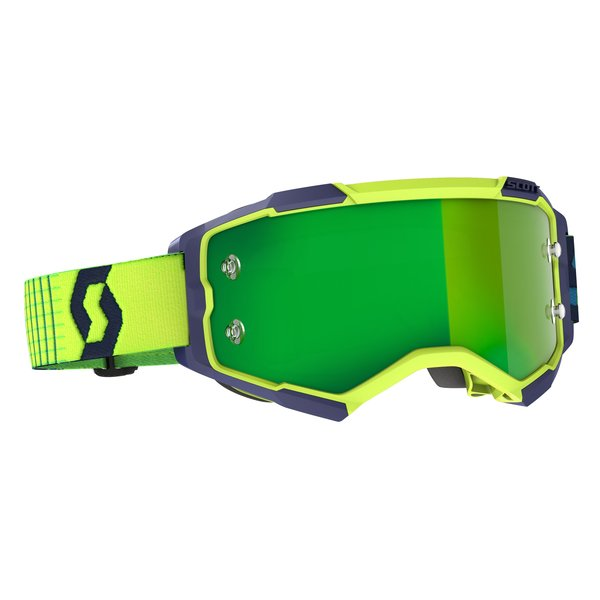 Goggle Fury Blue/Yellow Green Chrome Works