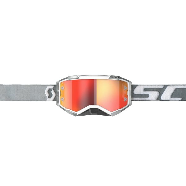 Goggle Fury White/Grey Orange Chrome Works