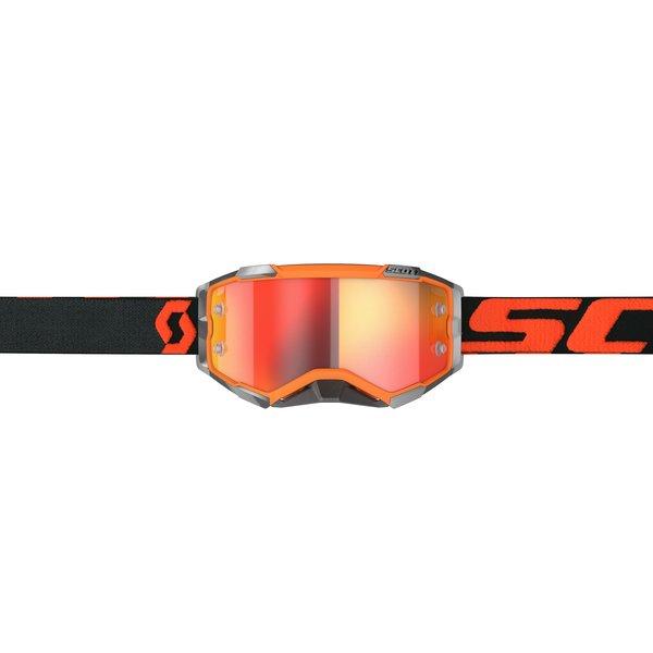 Goggle Fury Orange/Black Orange Chrome Works