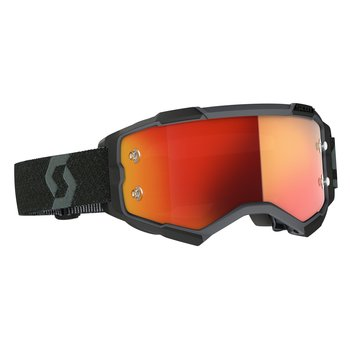 Goggle Fury Black Orange Chrome Works