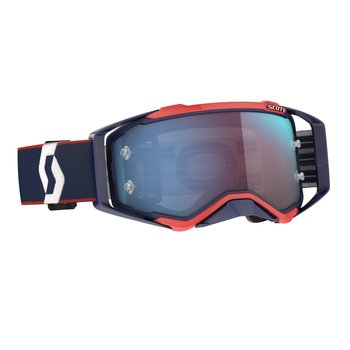 Goggle Prospect Retro Blue/Red Blue Chrome Works