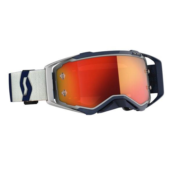 Goggle Prospect Grey/Dark Blue Orange Chrome Works