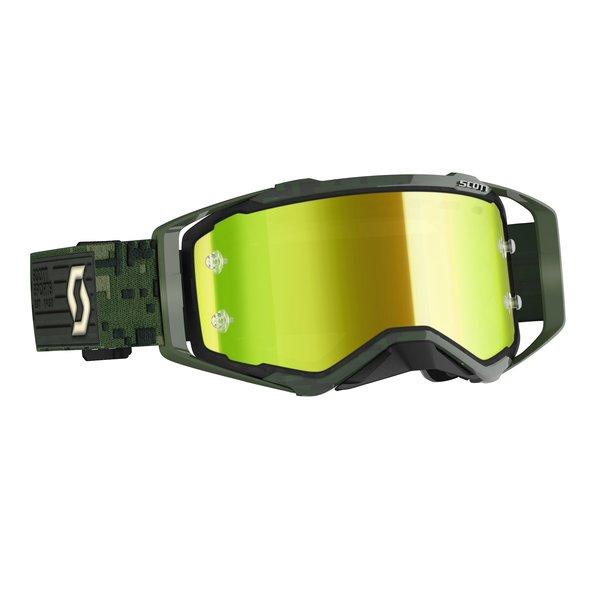 Goggle Prospect Kaki Green Yellow Chrome Works