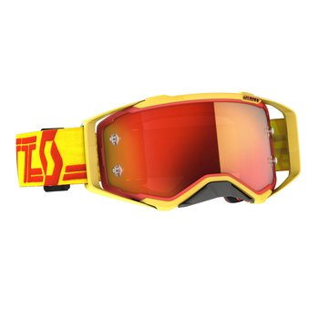 Goggle Prospect Yellow/Red Orange Chrome Works