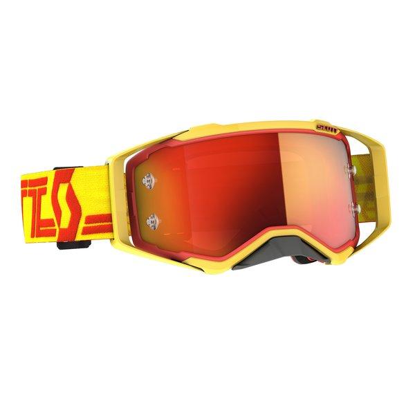 Goggle Prospect Yellow/Red Orange Chrome Works