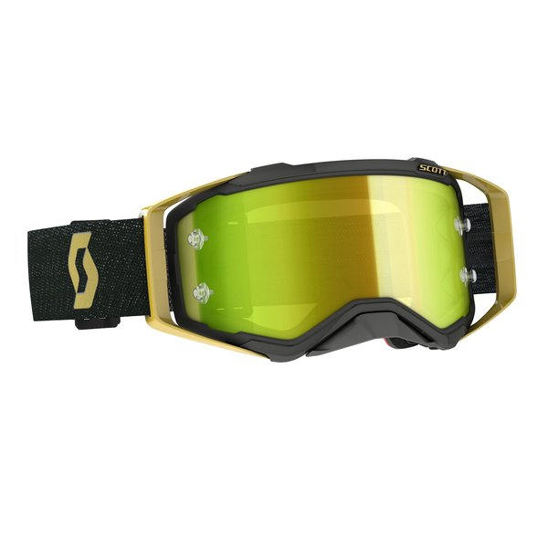 Goggle Prospect Black/Gold Yellow Chrome Works