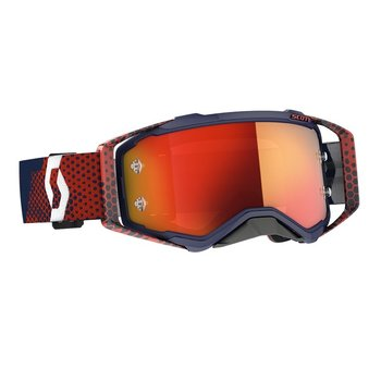 Goggle Prospect Red/Blue Orange Chrome Works