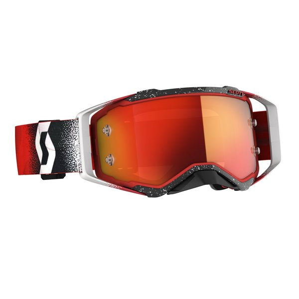 Goggle Prospect White/Red Orange Chrome Works