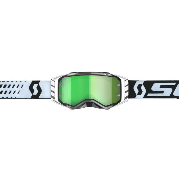 Goggle Prospect Black/White Green Chrome Works