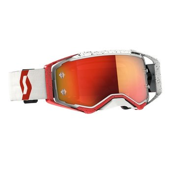 Goggle Prospect Red/White Orange Chrome Works
