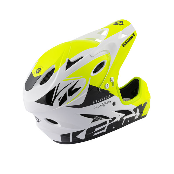 BMX Down Hill Helmet White Neon Yellow 2021