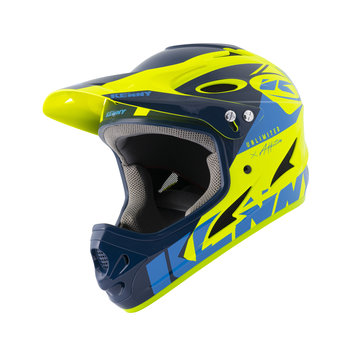 BMX Down Hill Helmet Navy Neon Yellow 2021