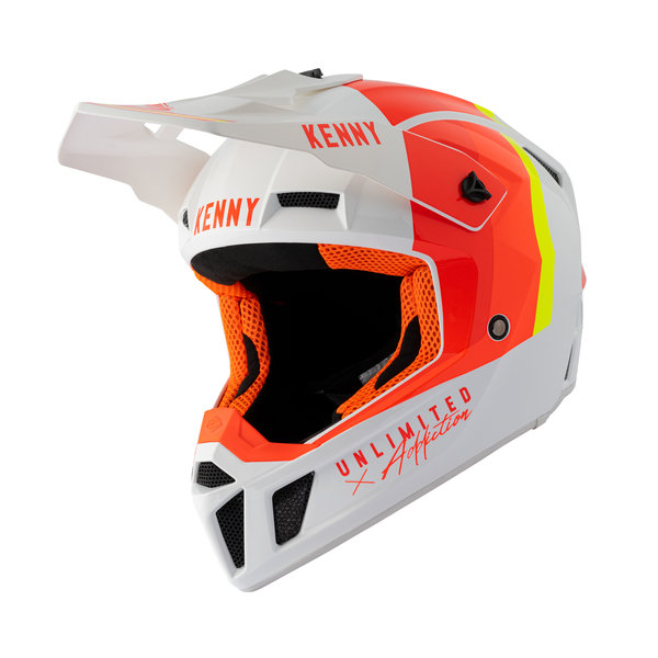 Graphic Performance Helmet White Red Orange 2021