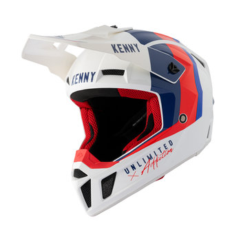 Graphic Performance Helmet White Blue Red 2021