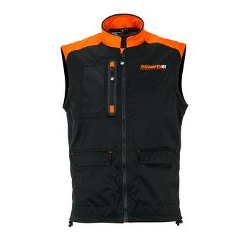Bodywarmer + Black Neon Orange 2021