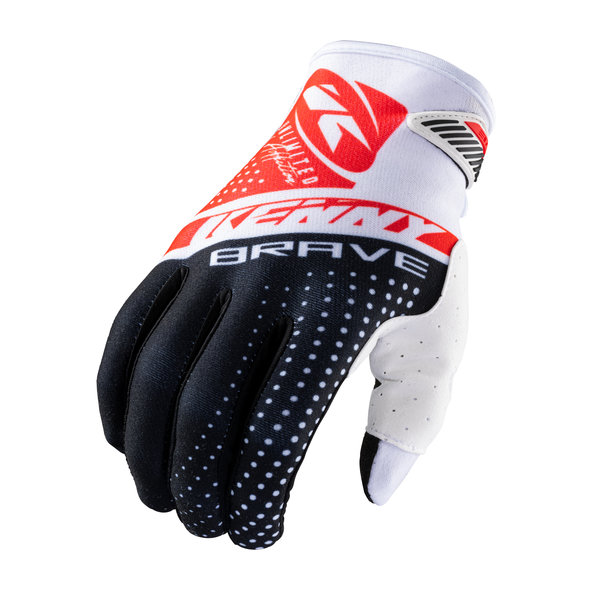 Brave Gloves Black White Red