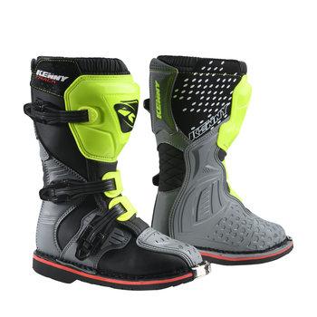 Junior Track Boots Grey Neon Yellow 2022