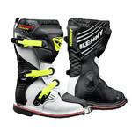 Junior Track Boots White Black Neon Yellow 2021