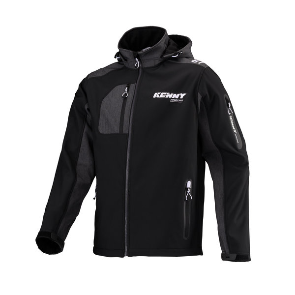 Racing Softshell Jacket Black White 2021