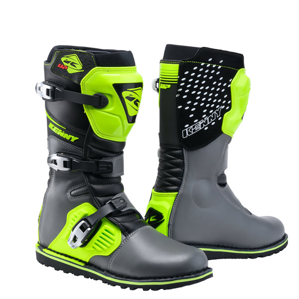 Trial Up Boots Black Grey Neon Yellow 2021