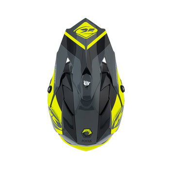 Track Peak Helmet Kid Black Neon Yellow 2021