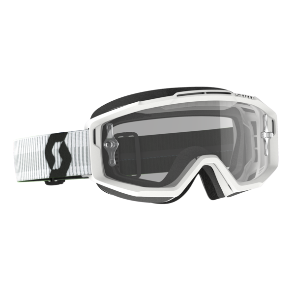 Goggle Split OTG White Clear Works (Speciaal Voor Brildragers)