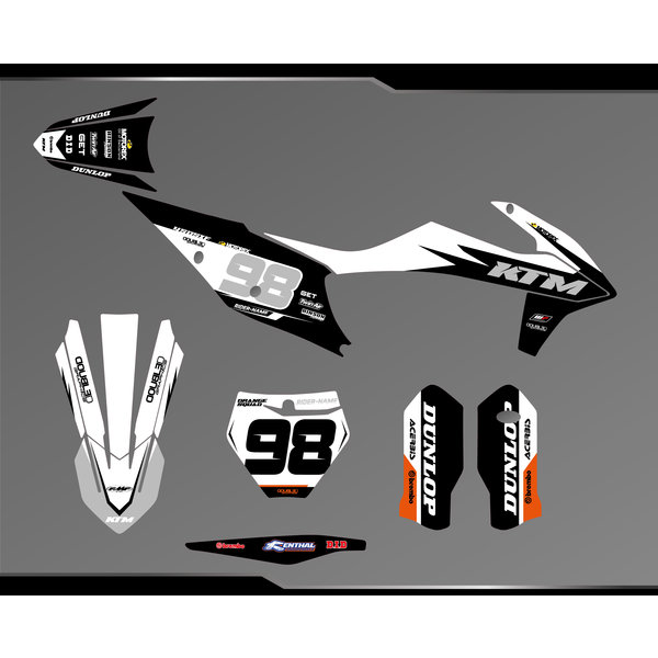 Complete Stickerset Honda CRF450R 2021  - Copy - Copy