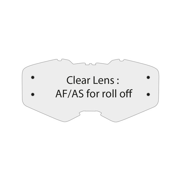 Clear Lens Af/As For Roll Off Ventury