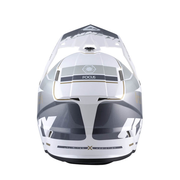 Track Helmet Adult Graphic White Silver 2022