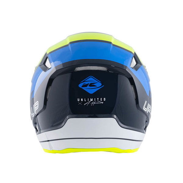 Trial Up Graphic Helmet Blue Neon Yellow 2022