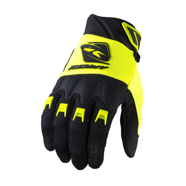 Track Gloves For Kid Black Neon Yellow 2022