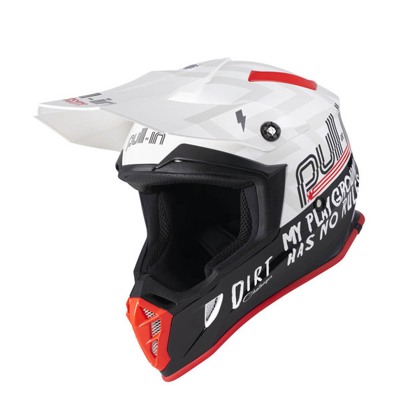 Pull-In Helmet For Adult Dirt White 2022