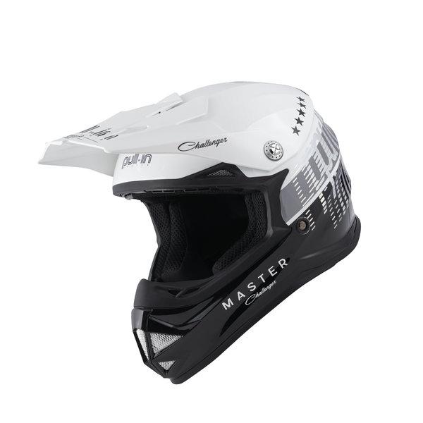 Pull-In Helmet For Kid Master Black White 2022