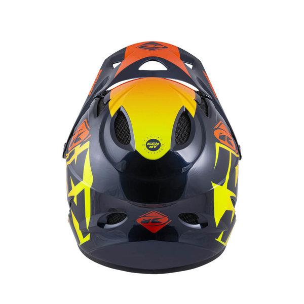 Down Hill Helmet Graphic Orange 2022