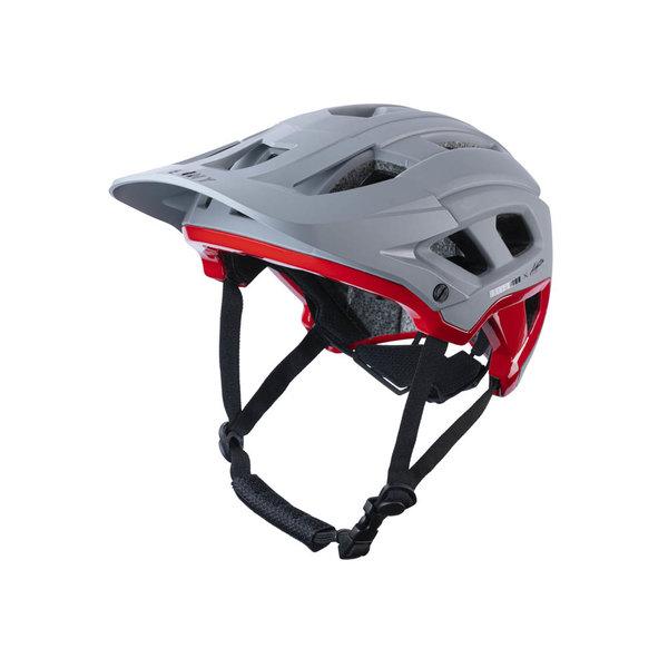 Scrambler Helmet Grey Red 2022