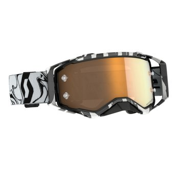 Goggle Prospect Amplifier Marble Black/White Gold Chrome Works
