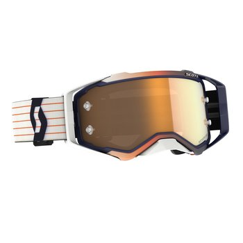 Goggle Prospect Amplifier Blue/White Gold Chrome Works
