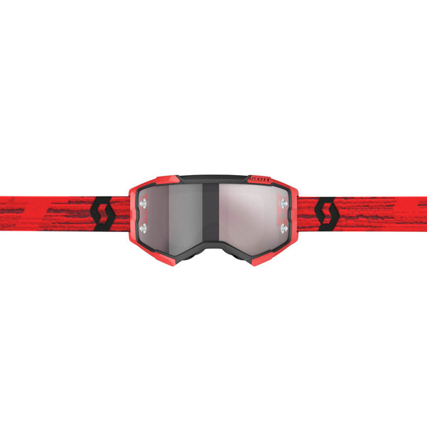 Goggle Fury Dark Red Silver Chrome Works
