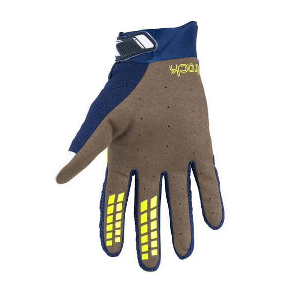Track Gloves For Kid Navy Neon Yellow