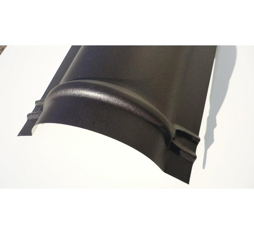Halfronde nokken metaal zwart