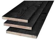 Douglas plank zwart geimp 22x200mm 3000mm