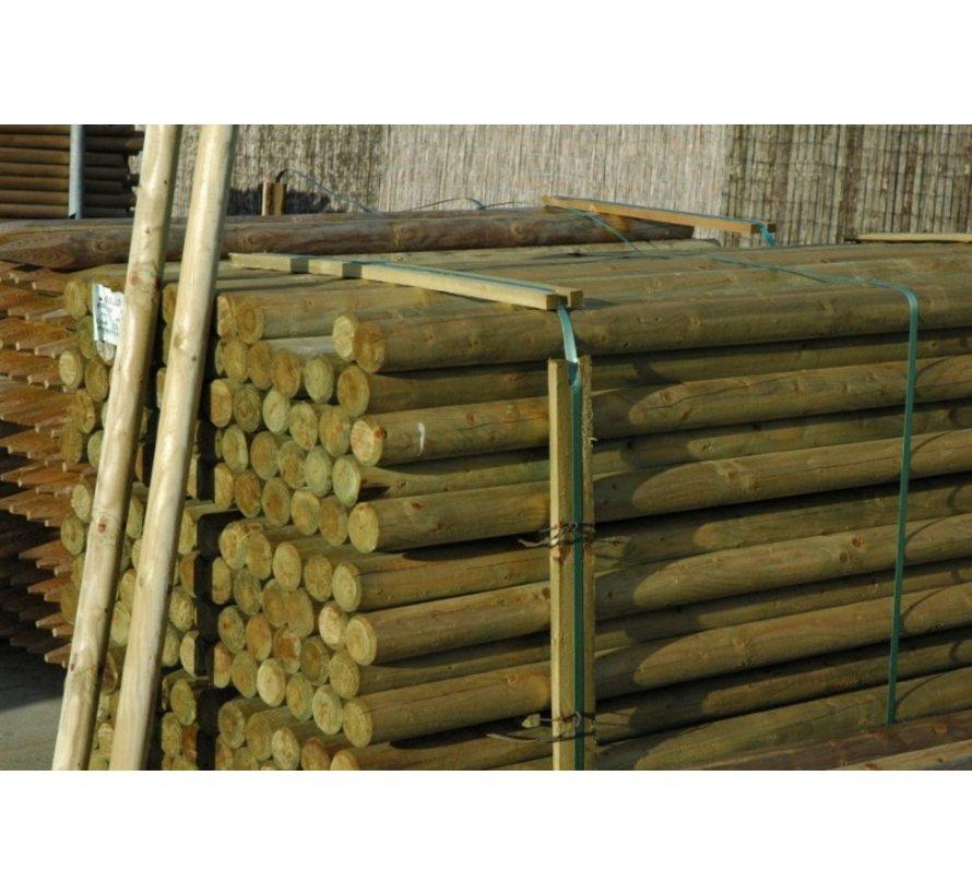 Geimpregneerde palen gefreesd 10x300cm